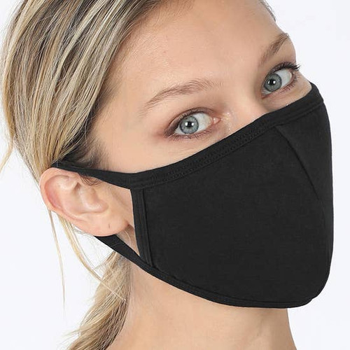 Black Face Mask with Filter Pocket