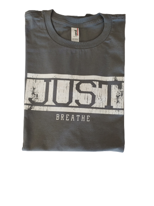 Just Breathe Short Sleeve 100% Cotton Unisex T-Shirt