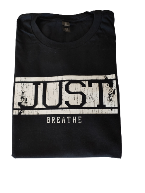 Just Breathe Short Sleeve Black Unisex T-Shirt