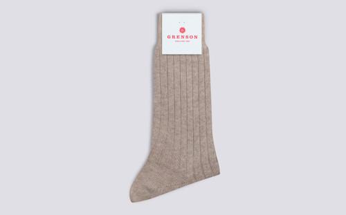 Womens Socks | 100% Recycled Socks in Neutral | Grenson - Folded View