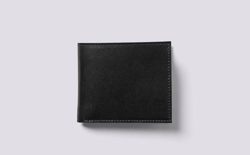 Bi-Fold Wallet in Black Calf Leather | Grenson - Main View