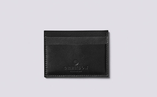 Card Holder in Black Calf Leather   Grenson - Main View