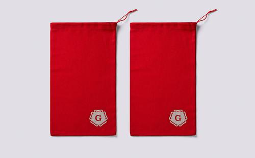 Grenson Red Shoe Bags - Main
