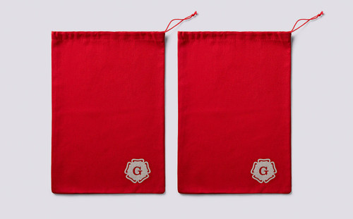 Red Cotton Boot Bags | Grenson Shoes
