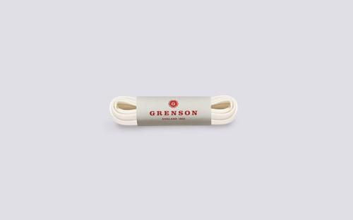 Flat Sneaker Laces | White Unisex Shoe Laces 100cm | Grenson - Main View