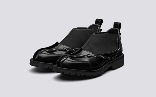 CRAIG GREEN + Grenson | Mens Slip On Shoes in Black | Grenson Shoes - Main View