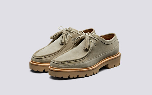 Bennett | Mens Derby Shoes in Pearl Suede | Grenson Shoes - Main View