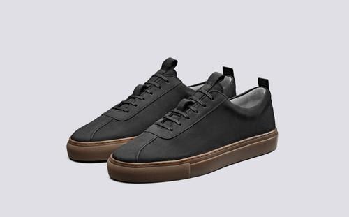 Sneaker 1 | Sneakers for Men in Black Nubuck | Grenson Shoes - Main View