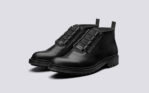 CRAIG GREEN + Grenson | Mens Ankle Boots in Black | Grenson Shoes - Main View