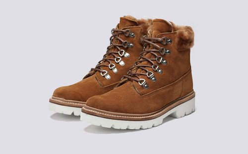 Brooke | Womens Hiker Boots in Rum Suede | Grenson - Main View
