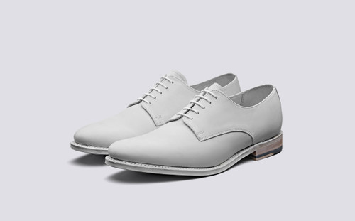 Jasmine | Derby Shoes in White Dipped Leather | Grenson Shoes - Main View