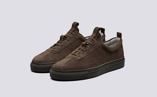 Sneaker 1 | Womens Sneakers in Brown Shaggy Suede | Grenson Shoes - Main View
