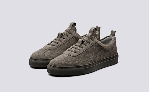 Sneaker 1 | Womens Sneakers in Vigogna Shaggy Suede | Grenson Shoes - Main View