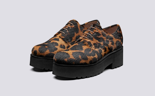Eve | Shoes for Women in Leopard on Platform Sole | Grenson Shoes - Main View