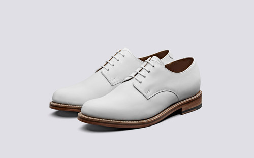 Evie | White Shoes for Women on Double Leather Sole | Grenson Shoes - Main View