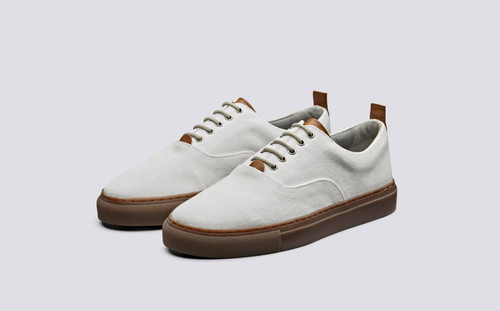 Sneaker 26 | Canvas Shoes for Women in Off White | Grenson Shoes - Main View