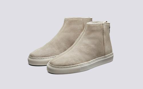 Sneaker 27 | Women's Sneakers in Stone Suede | Grenson Shoes - Main View
