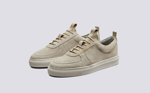 Sneaker 22   Womens Sneakers in Stone Suede   Grenson Shoes - Main View