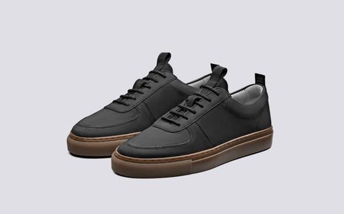 Sneaker 22 | Womens Sneakers in Black Nubuck Gum | Grenson Shoes - Main View