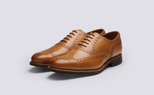 Grenson Dylan in Tan Leather - 3 Quarter View
