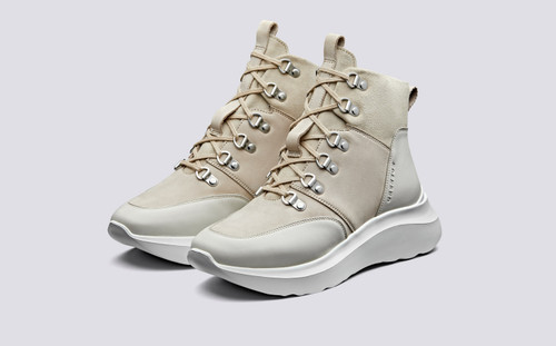 Sneaker 29   High Tops for Women in Stone Mix   Grenson Shoes - Main View