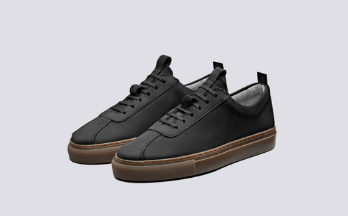 Sneaker 1 | Womens Sneakers in Black on Gum Sole | Grenson Shoes - Main View