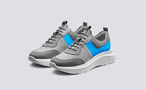 Sneaker 20 | Sneakers for Women in Grey Nubuck | Grenson Shoes - Main View