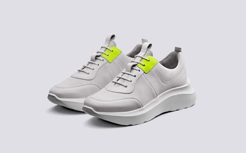 Sneaker 20 | Sneakers for Women in White Nubuck | Grenson Shoe - Main View