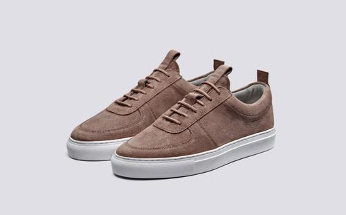 Sneaker 22 | Womens Sneakers in Brownrose Suede | Grenson Shoes - Main View