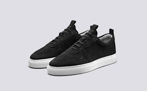 Sneaker 22 | Womens Sneakers in Black Suede | Grenson Shoes - Main View