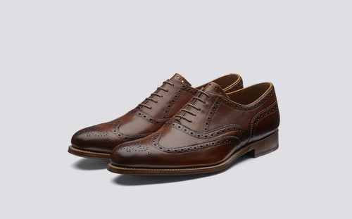 Grenson Dylan in Tan Calf Leather - 3 Quarter View