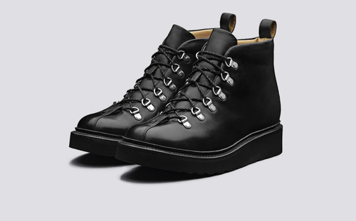Bobby | Mens Hiker Boots in Black Colorado Leather | Grenson -Main View