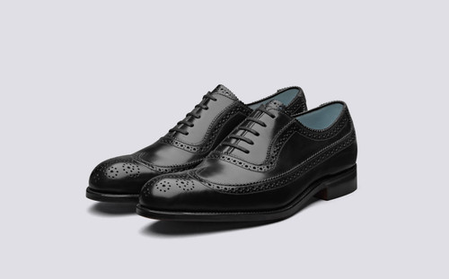 Grenson Toynbee in Black Calf Leather - 3 Quarter View