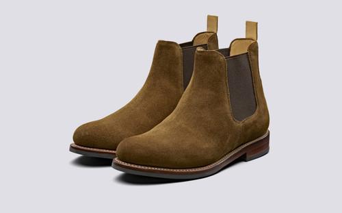 Warren | Chelsea Boots in Snuff Suede | Grenson