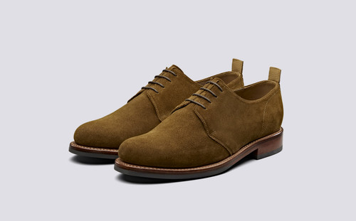 Wade | Derby Shoes in Snuff Suede | Grenson - Main View