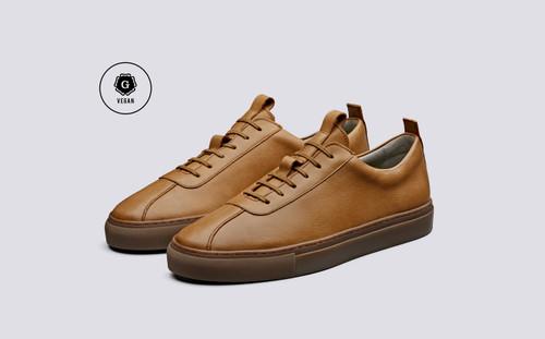 Sneaker 1   Vegan Sneakers for Men in Tan Grain   Grenson - Main View