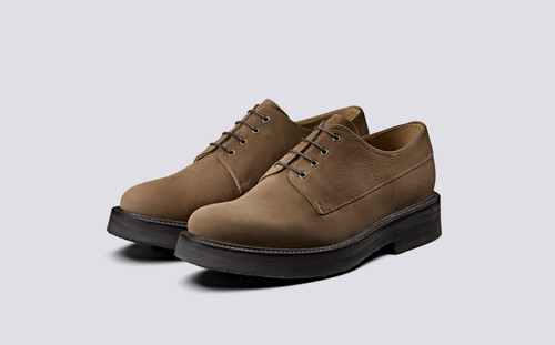 Hurley   Mens Derby Shoes in Cigar Nubuck   Grenson - Main View