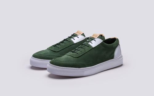 Grenson M.I.E. Sneaker Men's in Green 0 - 3 Quarter View
