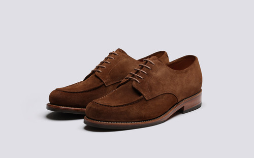 Grenson Parker in Brown Suede - 3 Quarter View