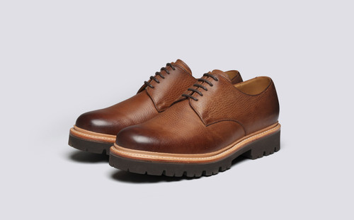 Grenson Curt in Brown Washed Nubuck - 3 Quarter View