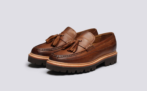 Grenson Booker in Brown Washed Nubuck - 3 Quarter View