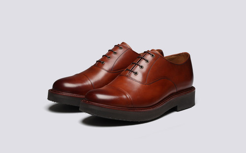 Grenson Ben in Tan Hand Painted Calf Leather - 3 Quarter View