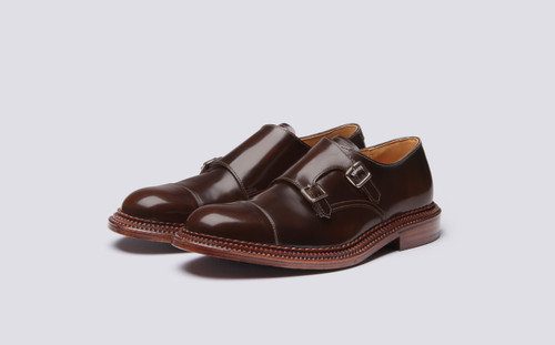 Grenson Hanbury in Brown Bookbinder Leather - 3 Quarter View