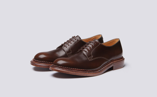 Grenson Rosebery in Brown Bookbinder Leather - 3 Quarter View