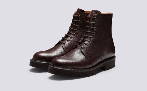 Hadley | Mens Boots in Brown Natural Grain Leather | Grenson - Main View