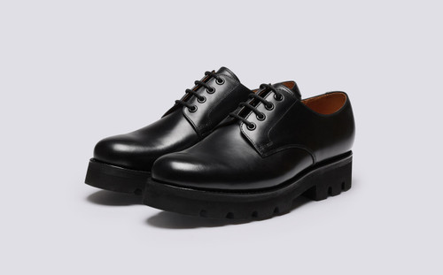 Landon | Shoes for Men in Black Pull Up Leather | Grenson - Main View