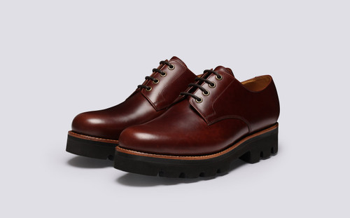 Landon | Mens Shoes in Chestnut Pull Up | Grenson - Main View
