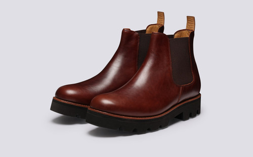 Warner | Chelsea Boots for Men in Chestnut Leather | Grenson - Main View
