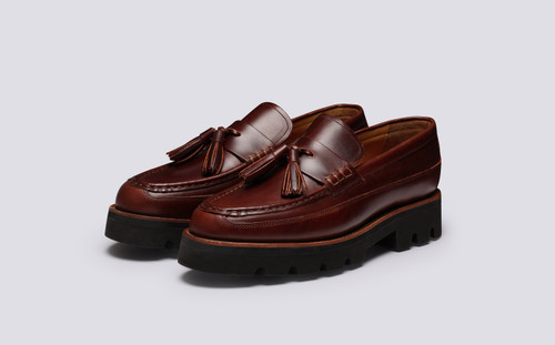 Booker | Mens Loafers in Chestnut Pull Up | Grenson - Main View