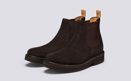Colin | Chelsea Boots for Men in Brown Suede | Grenson - Main View
